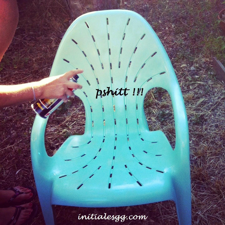Initiales gg diy repeindre des fauteuils de jardin for Peindre plastique bombe