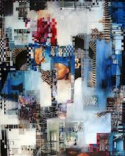 L'homme bleu - 92 x 73 cm - 2010