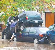 Vista aérea de la ciudad de La Plata donde la lluvia sacudió a miles. ar