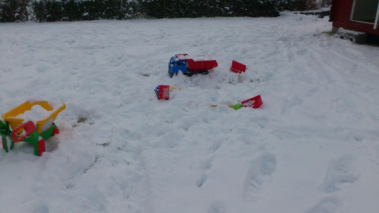 hvordan leke ute isnøen
