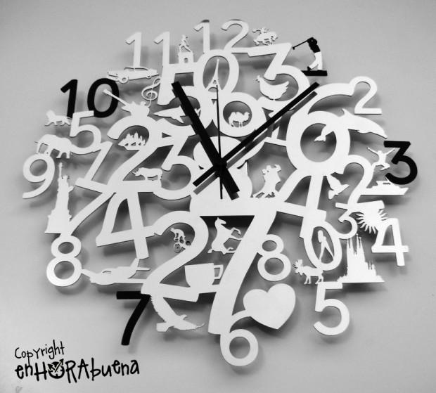 Orologi da parete enhorabuena by dandesign il tempo design orologi da parete enhorabuena - Orologi moderni da parete ...