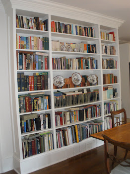 Bookcases in Dining Room