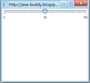 Basic Slider of JavaFX 2.0
