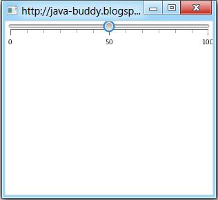 Basic Slider of JavaFX 2.0