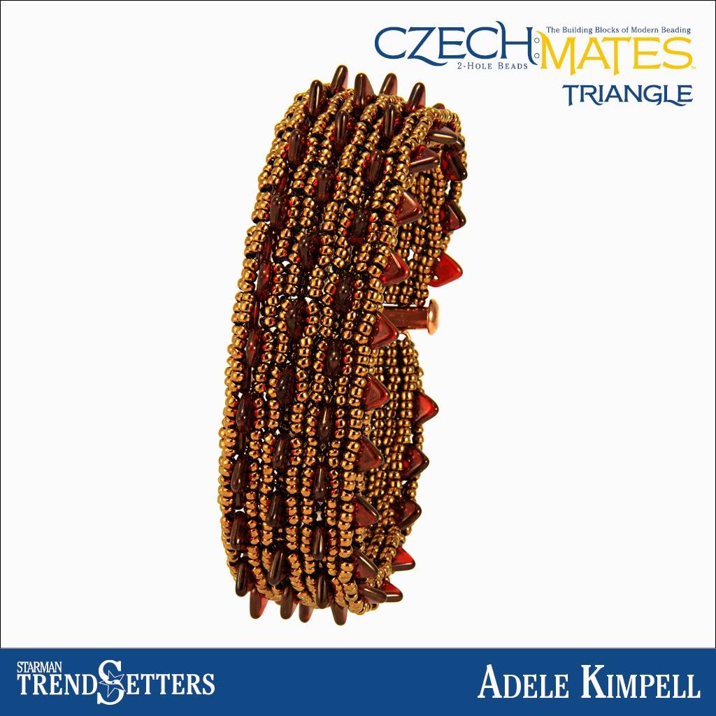 CzechMates Triangle Bracelet by Starman TrendSetter Adele Kimpell