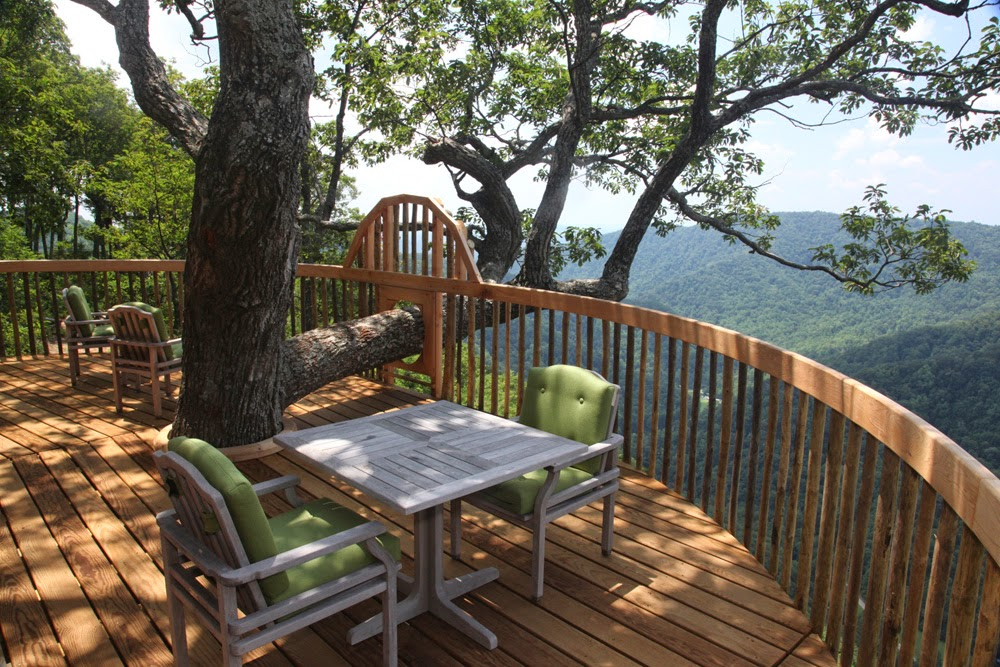 luxury treehouse in Virginia, The Primland Resort, Mountain views