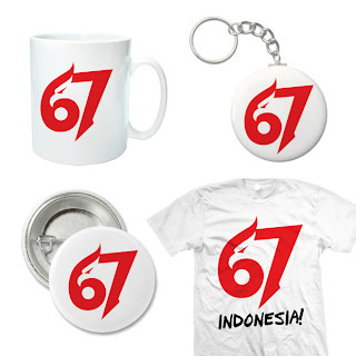 Logo (Kaos, Gelas dan Pin) HUT RI ke-67 Tahun