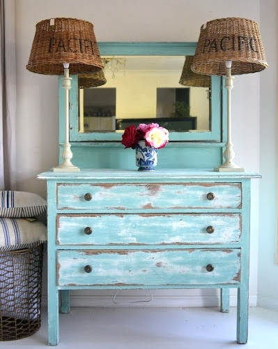 Distressed Painted Furniture Ideas for a Coastal Beach  : distressed painting furniture coastal beach from www.completely-coastal.com size 399 x 500 jpeg 144kB