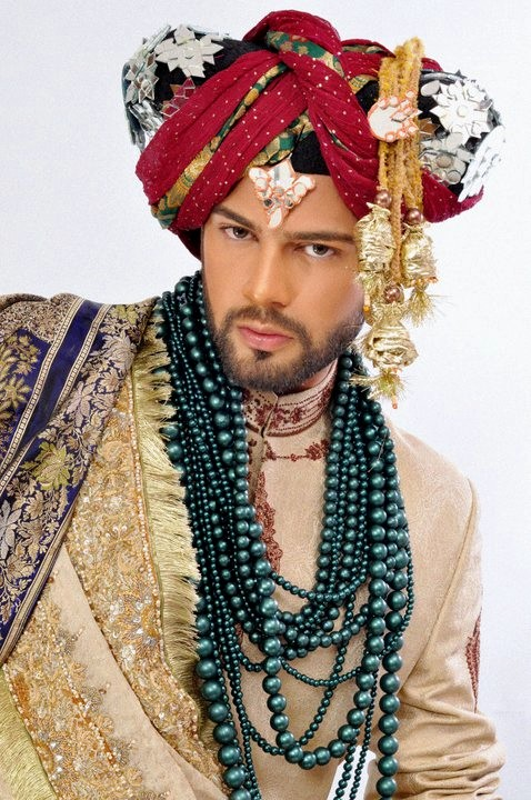 royal look groom turban