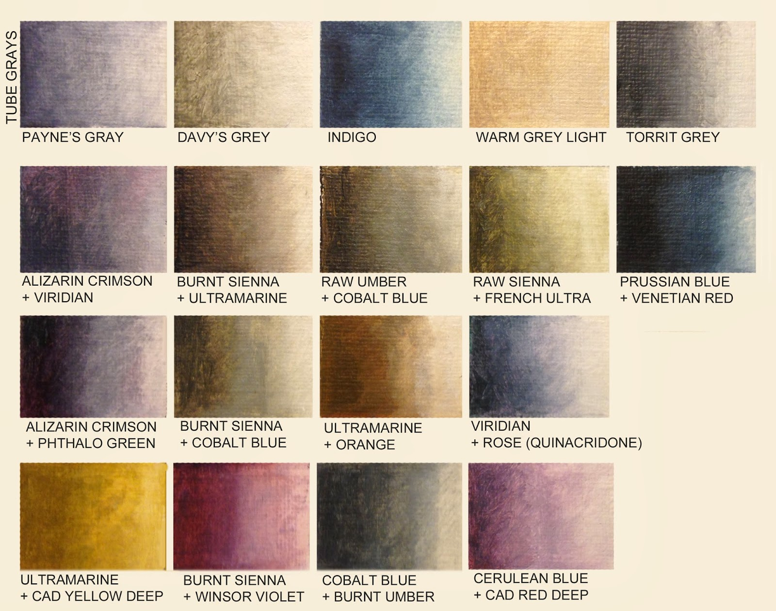 Marine oil paintings - Colors complementary to gray ...