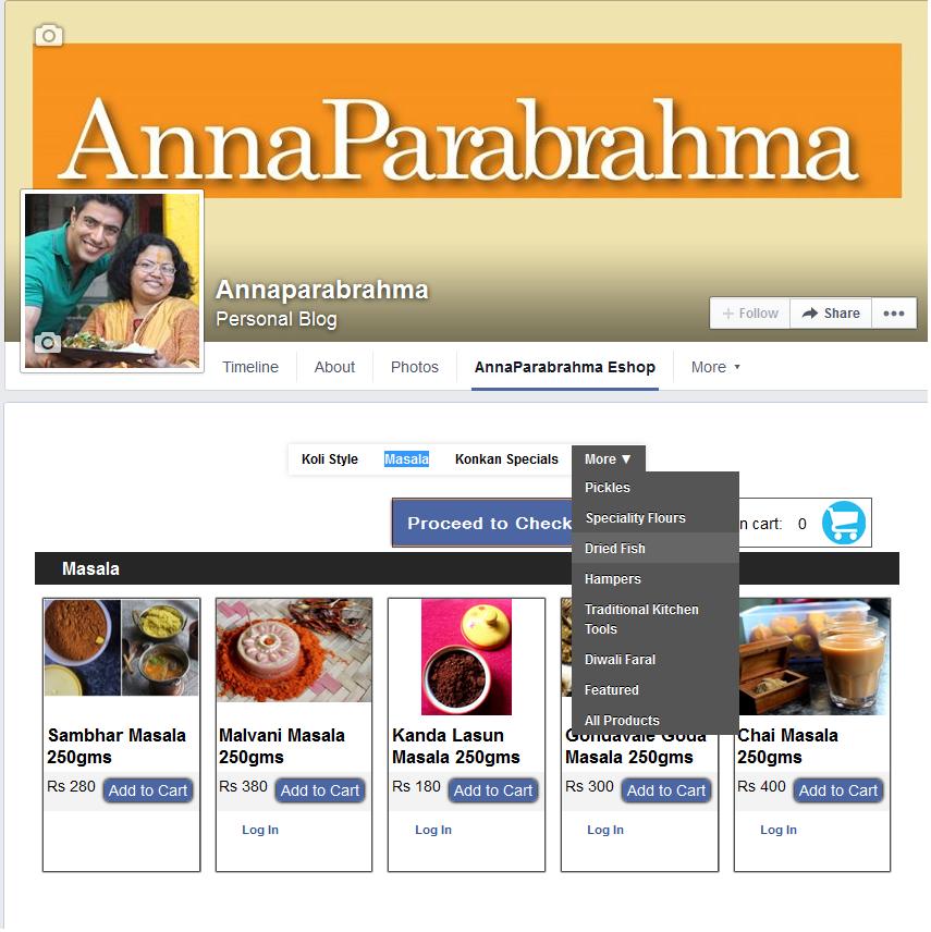 The AnnaParabrahma FB store
