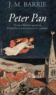 Capa do livro Peter Pan (Peter e Wendy / Peter Pan em Kensington Gardens), de J. M. Barrie (L&PM)