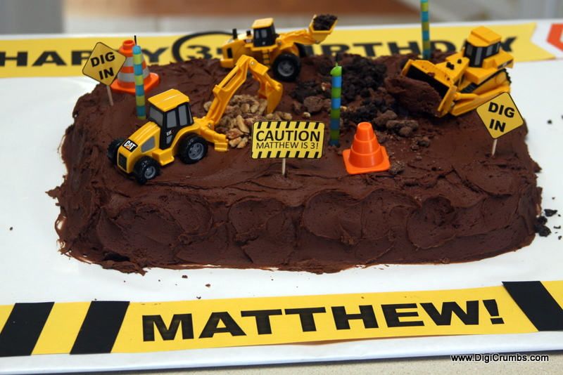 Birthday Cake Ideas Digger : DigiCrumbs: Digger Birthday Cake - An Easy DIY Interactive ...