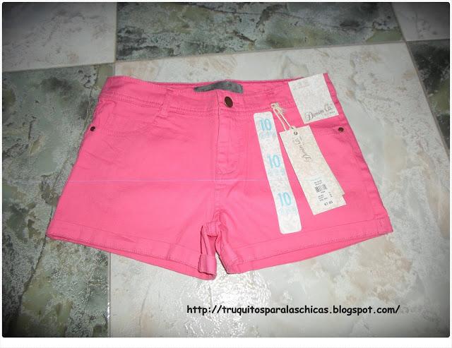 Short primark rosa