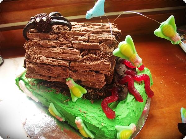 creepy crawly birthday cake