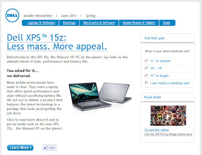 Click to view this June 1, 2011 Dell email full-sized
