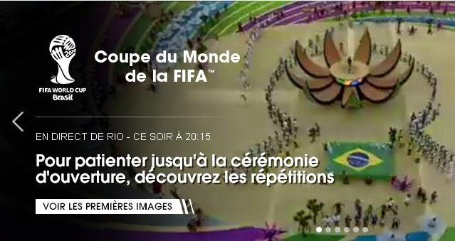 Regarder la cérémonie d'ouverture de la Coupe du monde 2014