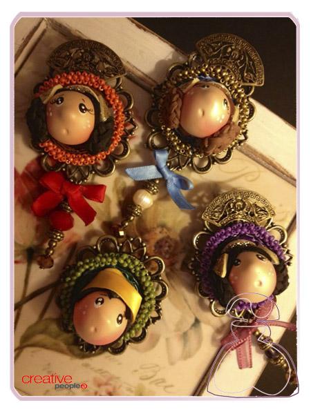 Broches Falleritas y Fallerito realizado por Sylvia Lopez Morant.