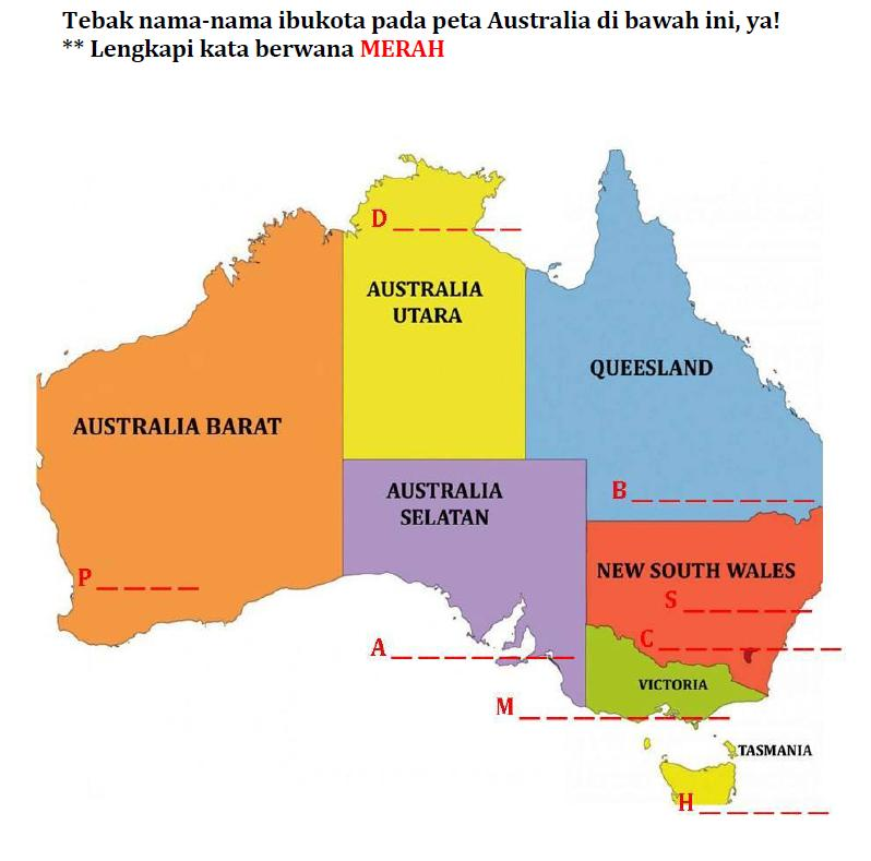 Gambar Peta Australia - Thegorbalsla