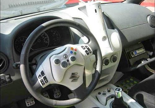 Coche equipado con una video-consola Xbox