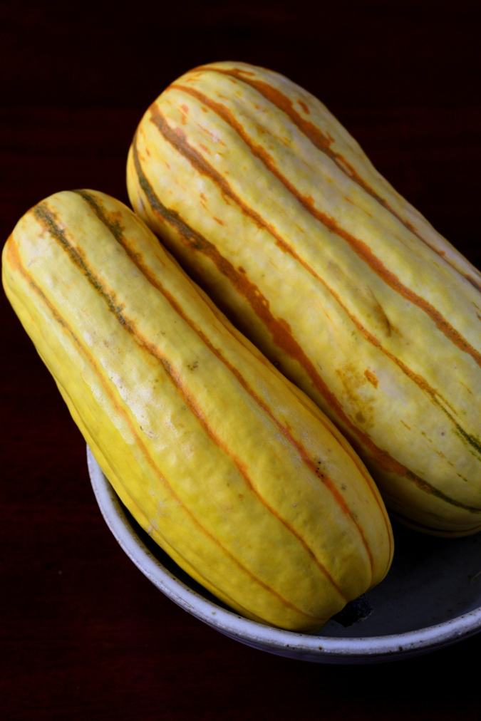 Mango & Tomato: Delicata Squash Boats With Spicy Chicken Balls And ...
