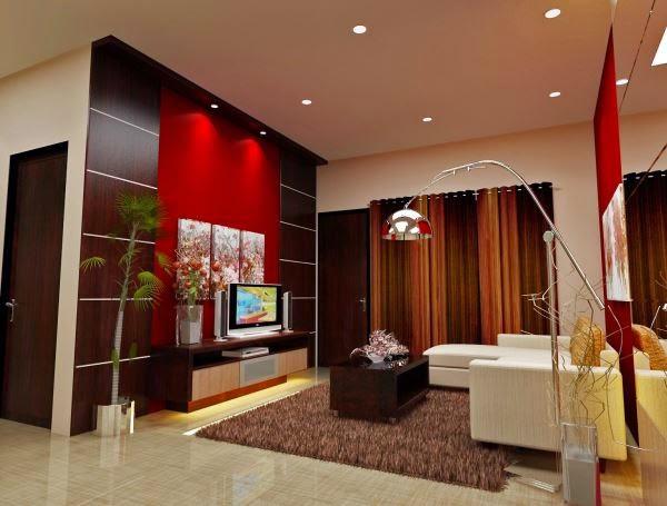 contoh model desain ruang keluarga minimalis terbaru