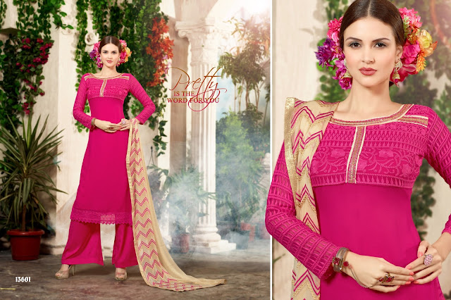 New Stylish Embroidery Straight Salwar Kameez