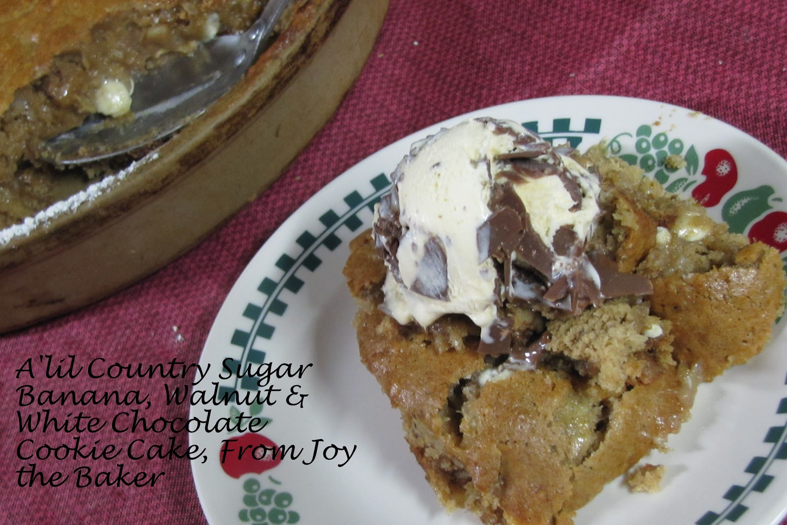 ... Something Really Sweet: Banana, Walnut & White Chocolate Cookie Cake