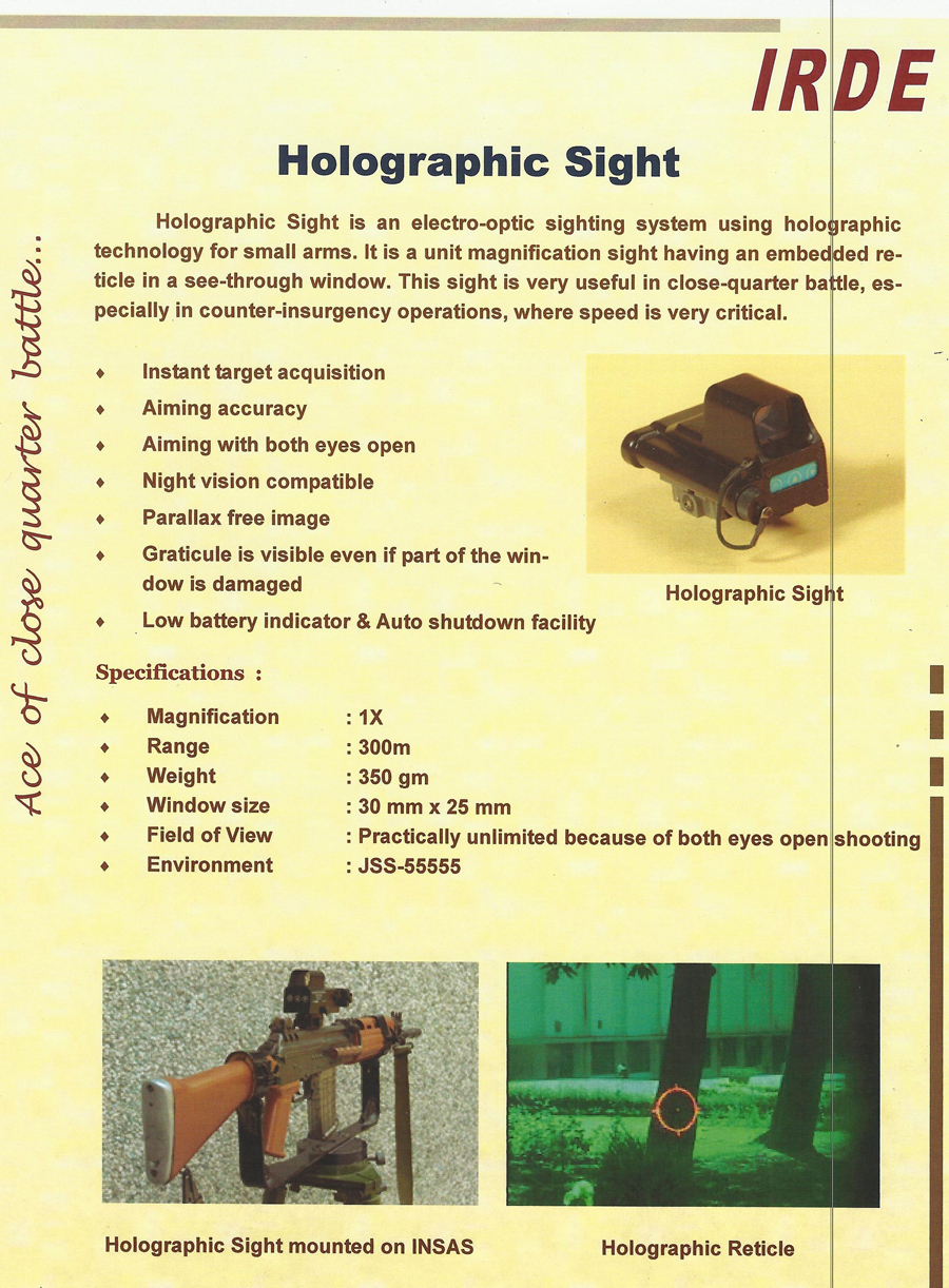 Drdo multical rifle unveiled page 7 - This Is A Holographic Sight Though I Do Not Know Complete Details But Seem Good For Regular Soldier