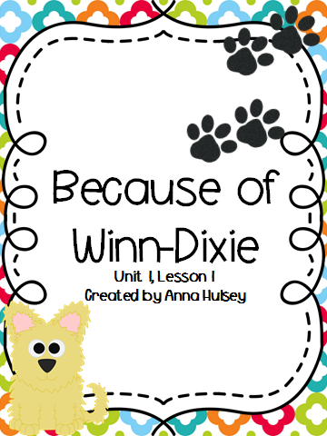 http://www.teacherspayteachers.com/Product/Journeys-Fourth-Grade-Because-of-Winn-Dixie-1143157