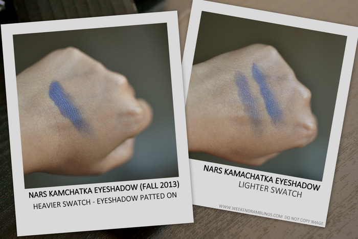 NARS Kamchatka Matte Eyeshadow Fall 2013 Makeup Collection Indian Darker Skin Beauty Blog Photos Swatches FOTD Review