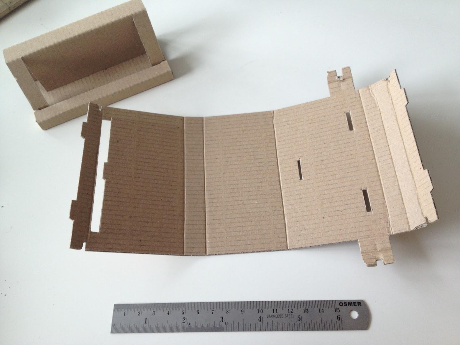 Runaway Prototype Design: Cardboard business card holder reloaded