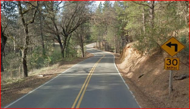 Cedar Ravine Road south of Placerville, California
