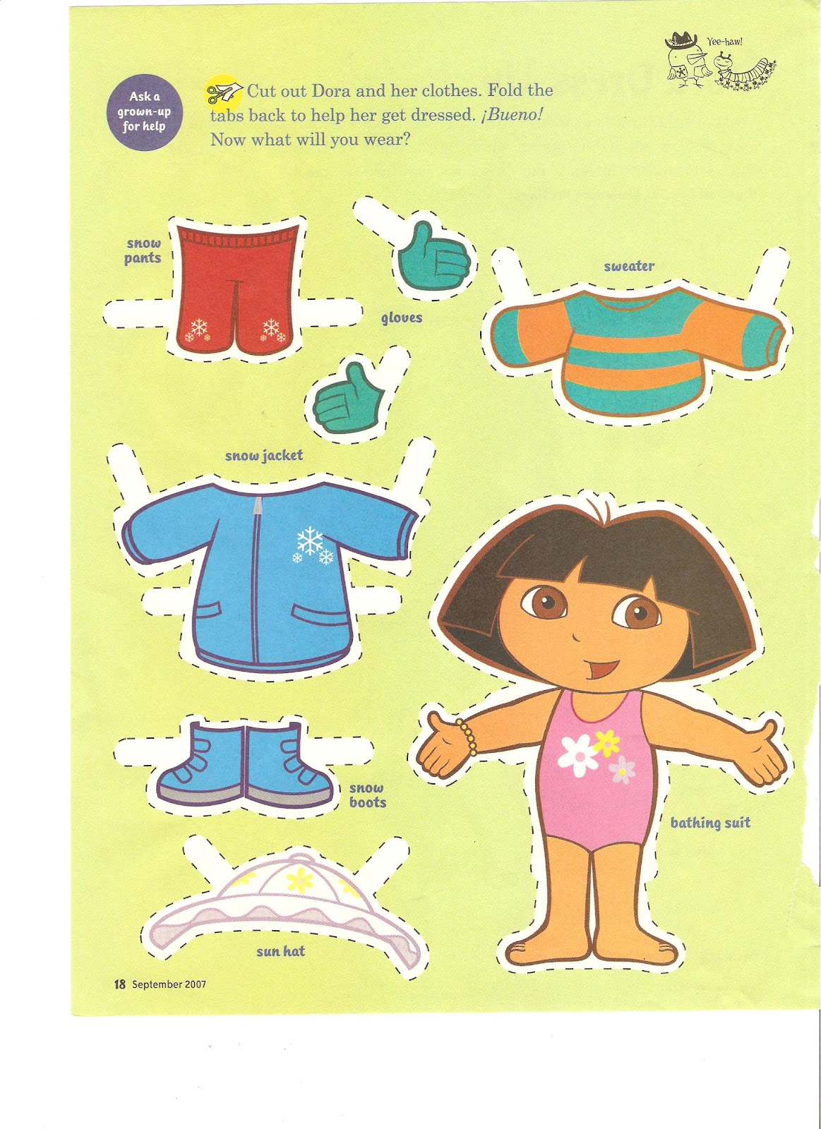 Miss Missy Paper Dolls Dora the Explorer