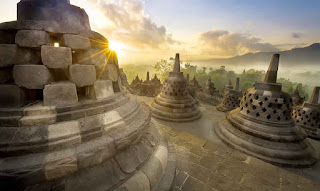 Sunset in Borobudur Temple