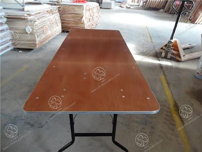 wooden folding rectangular table