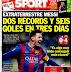 Messi el hombre récord a ritmo de hat-trick, superó a Raúl en Champions: portadas