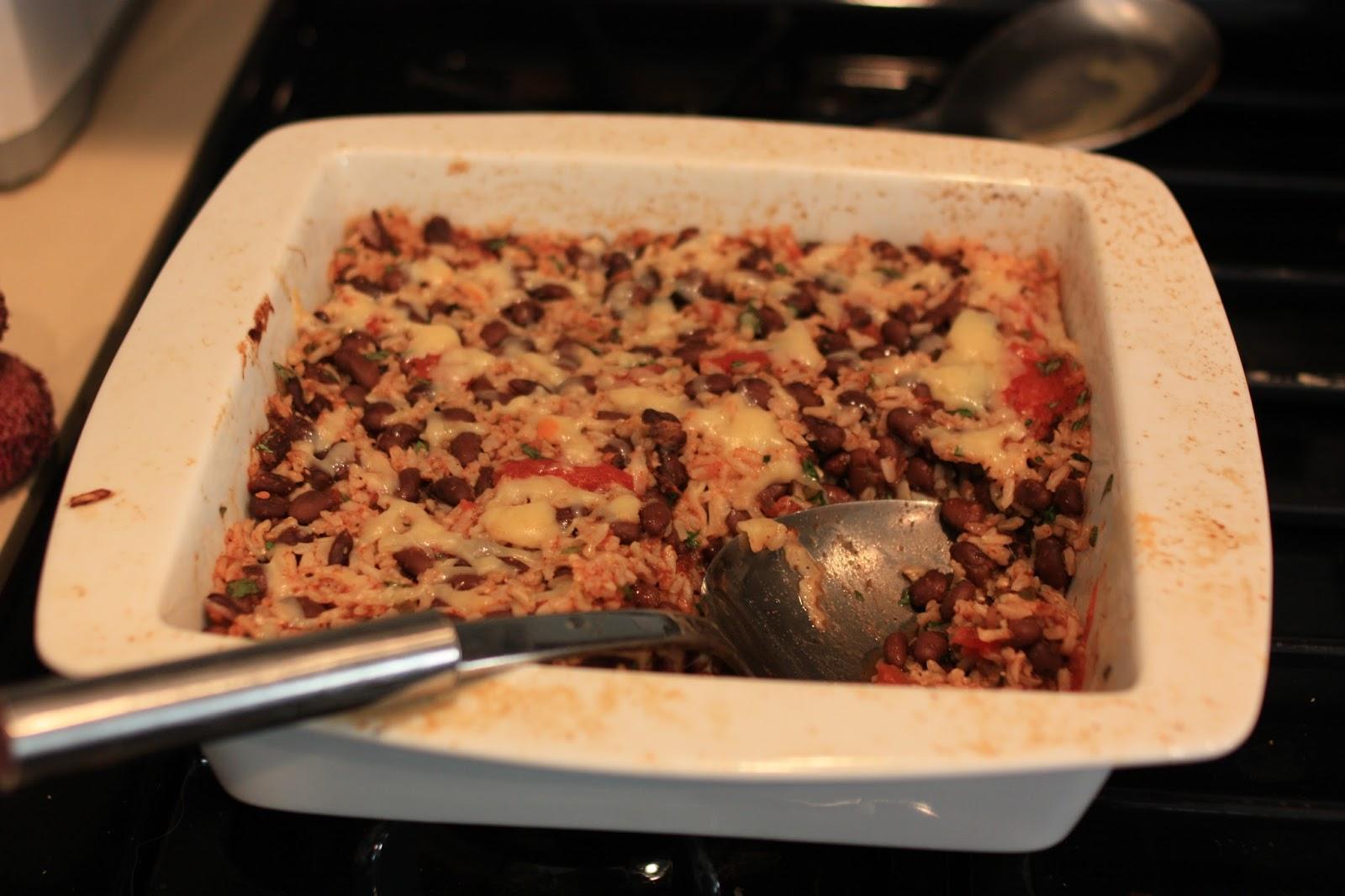 Joie Patisserie: Black Bean and Brown Rice Casserole