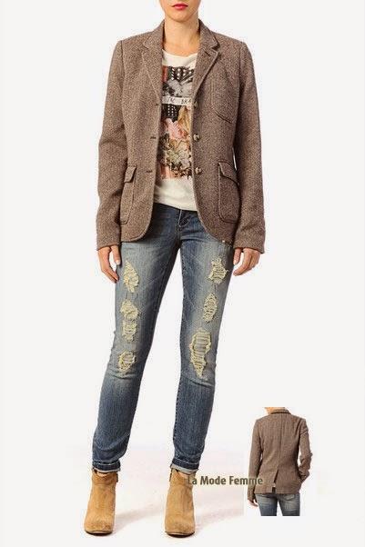 Veste en tweed laine Denim and Supply by Ralph Lauren