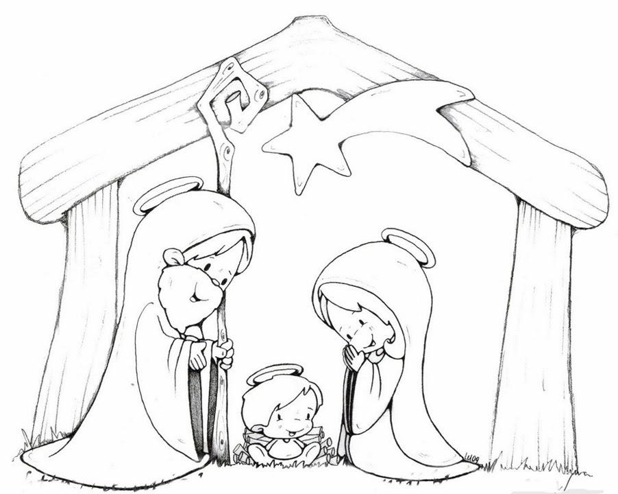 Dibujos de nacimientos para colorear imagui - Dibujos navidenos para imprimir y colorear ...