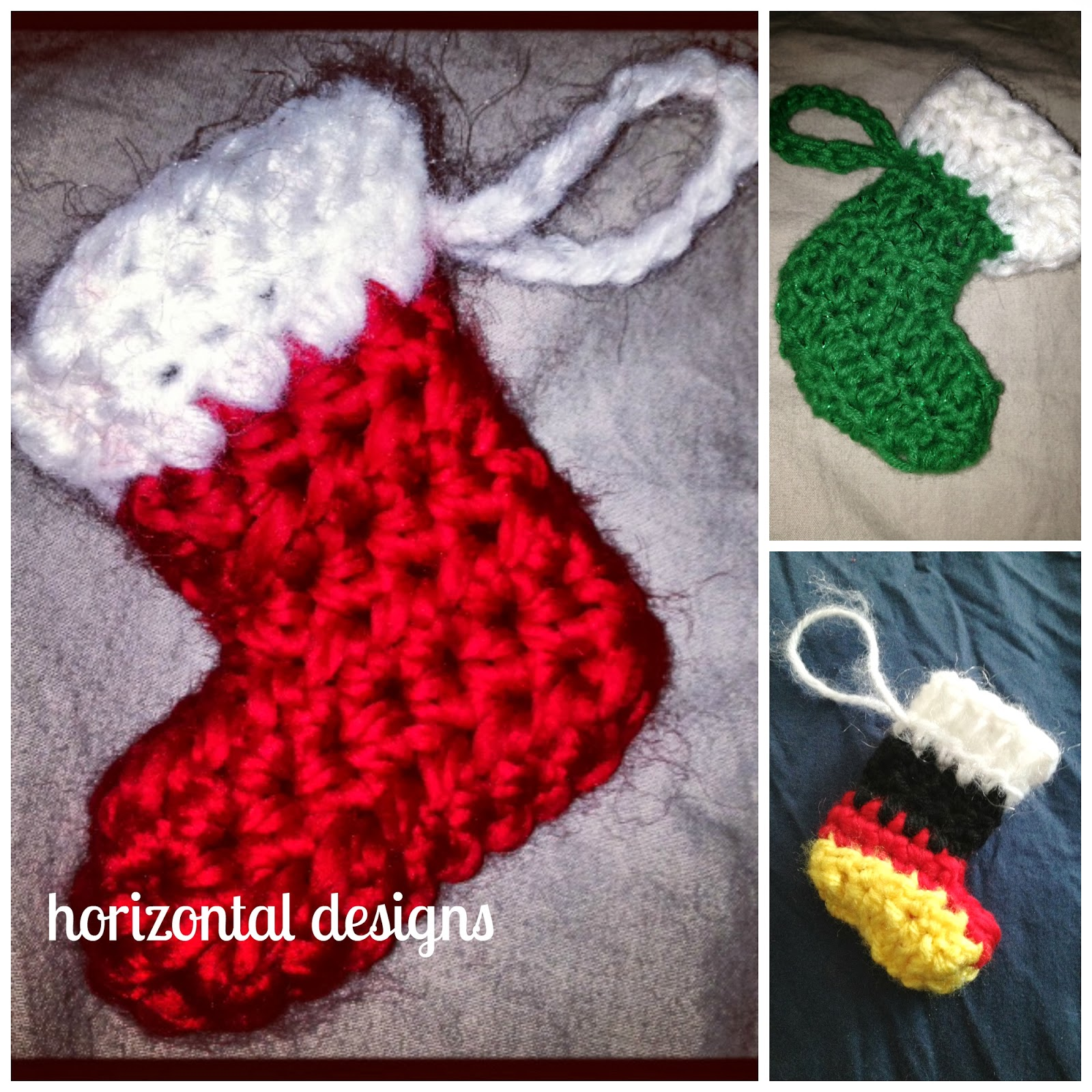 Free Crochet Patterns For Mini Christmas Stockings : Studio Create: FREE CROCHET PATTERN: Marvelous Mini ...