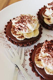 Chocolade-Banoffeetaartjes