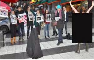 protes hijap wanita berbogel di iran