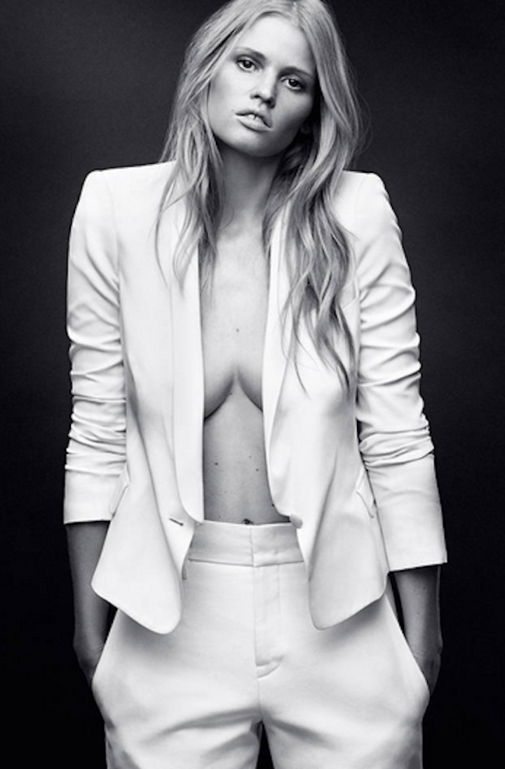 Lara Stone for W Magazine April 2014
