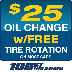 OIL CHANGE & TIRE ROTATION SPECIAL ONLY $25 for most cars
