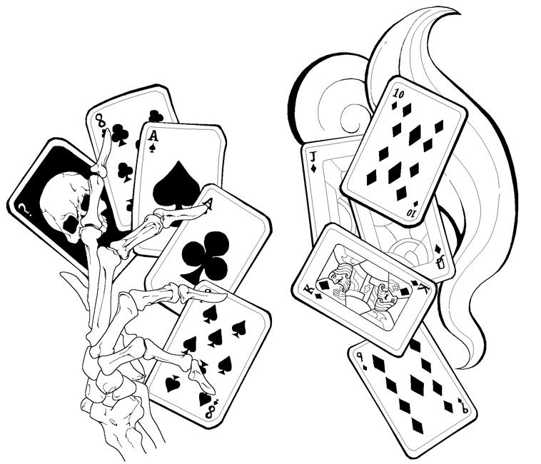 card tattoos designs