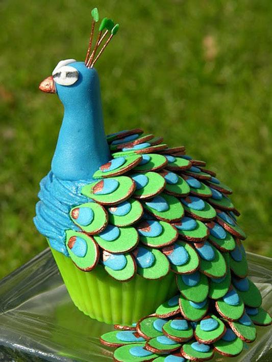 how to make a peacock wedding cake