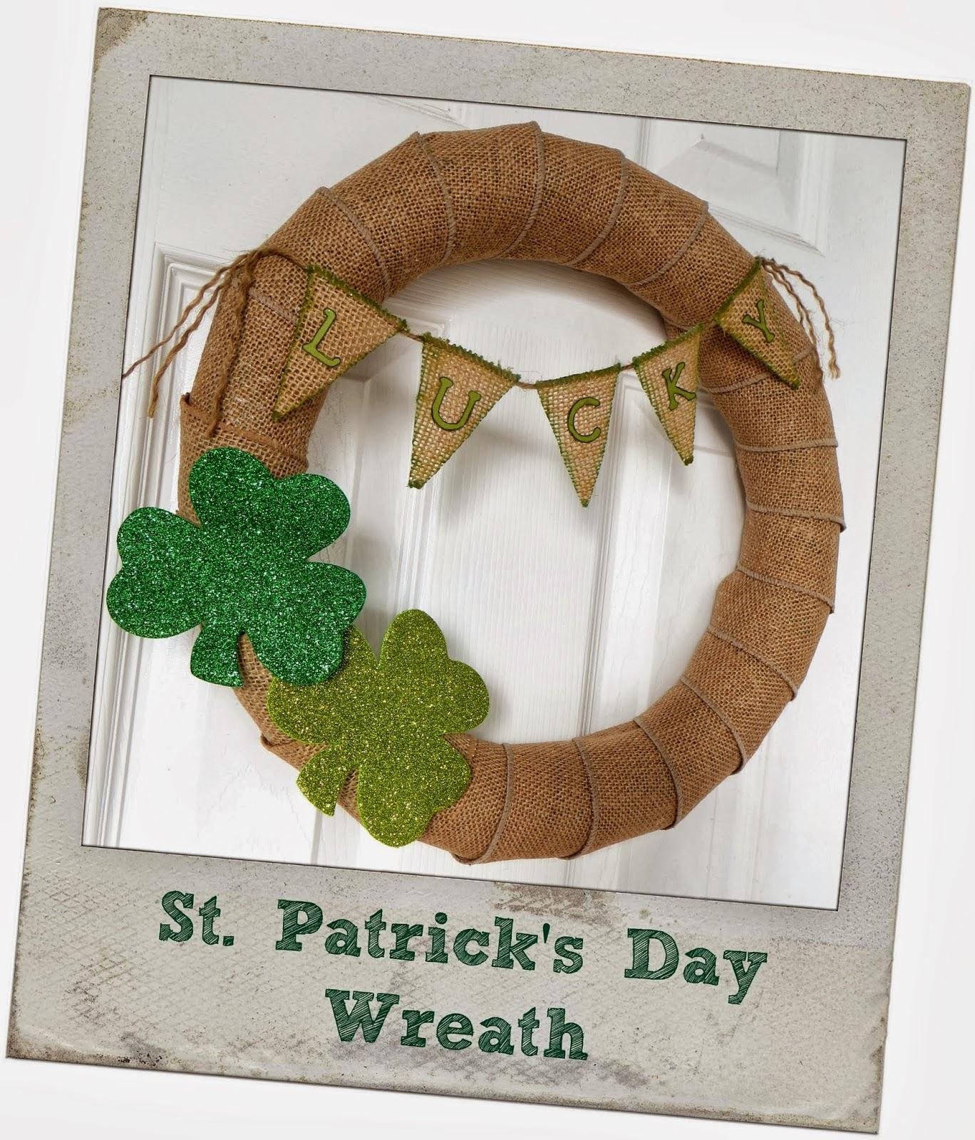 st patricks day lucky wreath