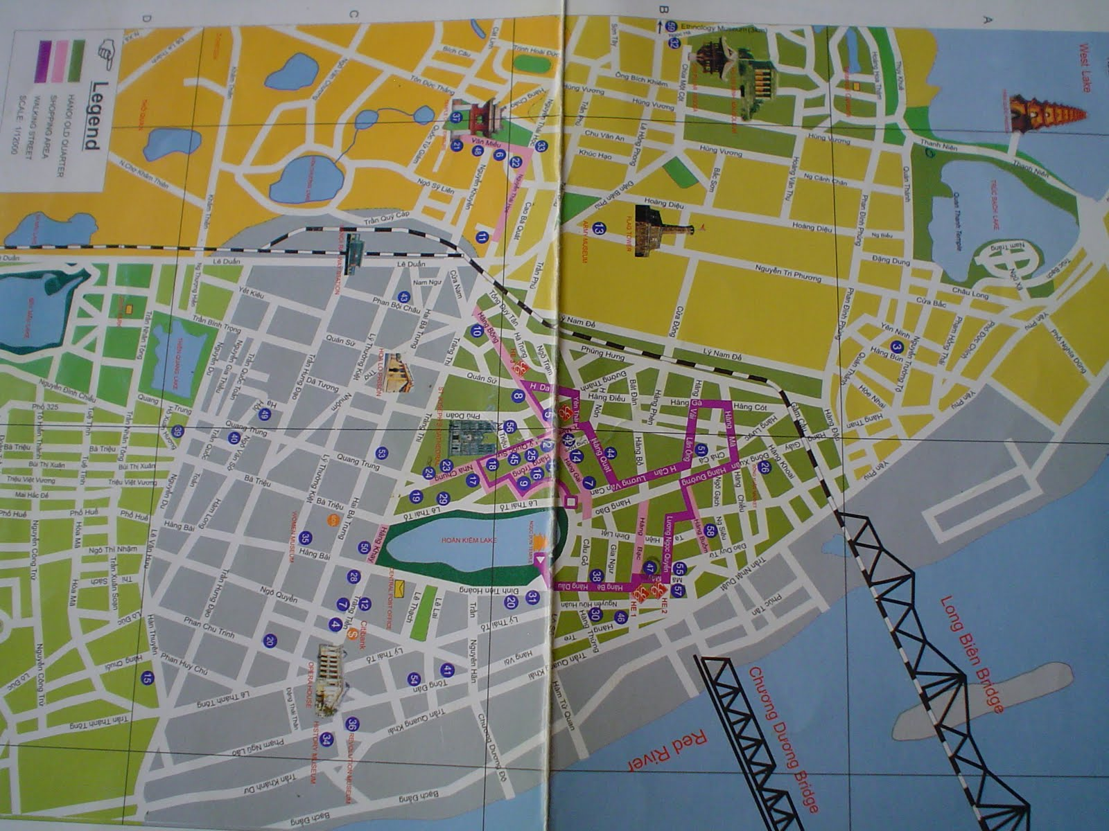 Tourist map Hanoi Vietnam – Tourist Attractions Map In Vietnam