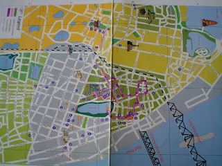 Hanoi city center tourist map